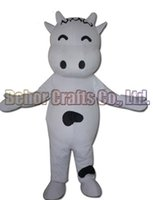 Wholesale Bull Costumes - Cows mascot costume EMS free shipping, cheap high quality carnival party Fancy plush walking milk bull cow mascot adult size.
