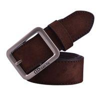 Wholesale Vintage Girdles - Wholesale- 5 Colors Classic Men Faux Suede Leather Belt Casual Male Alloy Buckle Waist Strap Vintage Man Boy Student Waistband Girdle Jan9