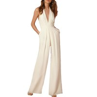 Wholesale 2017 Summer Rompers Womens Jumpsuit Sexy Ladies Casual Elegant Sleeveless blet Long Trousers Plus Size Overalls Jumpsuit