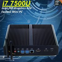 Fanless Mini PC Intel Core i7-7500 Gráficos Intel HD 620 210 * 175 * 45MM 2 * aleación de aluminio de color negro HDMI Windows 8 / Windows 10