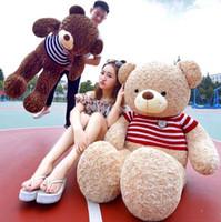 Wholesale Toys Bear Biggest - 170cm Biggest Cute Soft Teddy Bear Plush Toy 67 Inches Jumbo Stuffed Huge Bear Doll Kids Lover Present