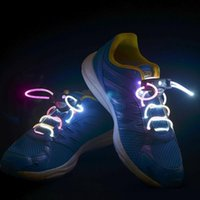 2017 LED lampeggiante Illuminazione flash lucido Shoelaces Laser Shoelace Fiber Optic Luminous Shoe Laces Z107
