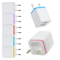 Wholesale usb port receiver resale online - For iPhone s Plus Samsung Android Phone US EU Universal Home Travel Dual Port AC USB Wall Charger