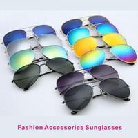 lunettes bleu doré achat en gros de-Lunettes de soleil unisexes Lunettes Protection UV / Cadre doré Lunettes bleu-vert Accessoires de mode Protection UV Lunettes de soleil
