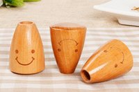 Wholesale Pick Products - Practical Wooden Smile Face Tooth Pick Holder Creative Wood Toothpicks Cans Box Environmentally Friendly Household Products