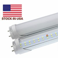 Wholesale Fixture Cover - LED Tube Lights 4 ft 4 Feet 22W 28W LED Tubes Fixture 4ft Clear Cover G13 120V Bulbs Lighting Stock In US