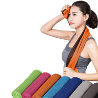 Wholesale Hair Dry Towel - 2017 Cool towel Summer cooling towels dual layer sports outdoor ice cold scaft scarves Pad quick dry washcloth necessity for Fitness Yoga