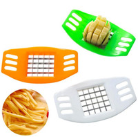 Wholesale Vegetable Potato Chips - Stainless Steel Vegetable Potato Slicer Cutter Chopper Chips Making Potato Cutting Fries Tool Kitchen Accessories DG12