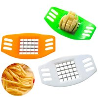 Wholesale kitchen tools resale online - Stainless Steel Vegetable Potato Slicer Cutter Chopper Chips Making Potato Cutting Fries Tool Kitchen Accessories DG12