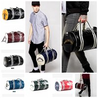 Wholesale Wholesale Mens Handbags - Multifunction Mens Pvc Leather Travel Bags Brand Handbag Men Crossbody Shoulder Bags Sport Gym Fitness Bag Training Handbag KKA3234