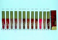 Wholesale Hot Melt - HOT Cosmetics melted Matte Lipstick Lip Gloss 12 colors DHL Free shipping+GIFT