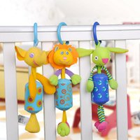 Wholesale Teether Rattle Set - Wholesale- 3pcs set Baby Rattles & Mobiles Educational Toy For Baby Stroller Cartoon Toys for Newborns Teether Juguetes Bebe Brinquedo