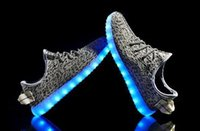 Wholesale Dance Sneakers Shoes Color - LED Flash Shoes 8 Color USB charging Sneakers Casual Shoes for Mens And Womens shoe Footwear dance party gift Free Shipping
