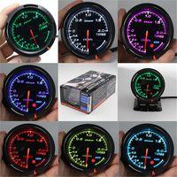 medidor de turbo al por mayor-13 Color de luz de fondo en 1 60mm Racing DEFI BF Link Auto Gauge Boost Guage Turbo Sensor Gauges Auto Meter