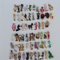 Wholesale Cute Toys For Dogs - 2017 Animal Cartoon Mini Action Figures Gashapon Gachapon Capsule Toys Mini Figuress Cute PVC Lion horses dogs for children Christmas Gifts