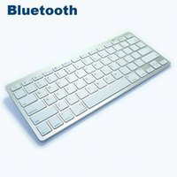 Wholesale Iphone Macbook Bluetooth - Newest Ultra-slim Multimedia Wireless Bluetooth Keyboard For iPad iPhone Macbook Android Tablet PC Bk3001 20pcs lot Free DHL Shipping