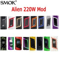 Wholesale Fit Temperature - Authentic SMOK Alien TC Box MOD 220W VW Temperature Control Mod Fit Original TFV8 Baby Best Tank 100% genuine SmokTech DHL Free 2218045