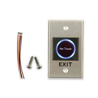 Wholesale Exit Push Button Switch - Wholesale- New Design Infrared no touch exit push button for access control system door exit button switch emergent exit button push