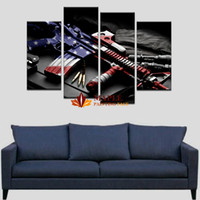 Wholesale Art Paintings Online - large canvas prints online 4 picecs set large canvas prints gun modern wall art decor for home decoration discount art canvas