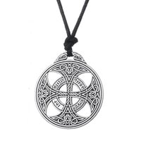 Wholesale Geometric Necklaces - Viking Norse Large Irish Knot Rune Necklace Wiccan Pagan Asatru Geometric Jewelry Rope Necklace Egyptian Necklaces for Women