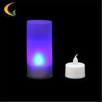 Wholesale Electronic Candle Light Sensor - Wholesale- 7-color baby room LED Electronic Switch nightlight Color Change Night Light motion sensor light children luminary luminaria