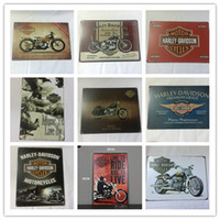 Wholesale Hotel Shopping - Cheap Price good quality harley Davidson design rerto tin sign home Bar Pub Hotel Restaurant Coffee Shop home Decorative Retro Metal Poster