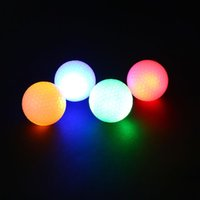 Wholesale Led Golf Balls - Wholesale- 2Pcs Night Tracker Flashing Light Glow Golf Balls LED Electronic Golfing