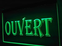 LK162g- OUVERT OPEN Shop LED Neon Light sign