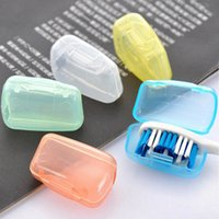 Wholesale Toothbrush For Travel - Wholesale- 10Pcs set portable toothbrush head cover holder travel hiking camping brush cap case products for bath
