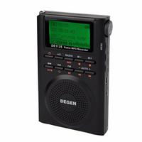 Wholesale Degen Sw Radio - Wholesale-Degen DE1125 Digital Portable Radio Recorder FM Stereo MW SW AM MP3 Player Recorder E-Book 4GB Radio FM