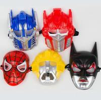 trafo partisi toptan satış-Toptan Karikatür Maske, Batman, Transformers, Örümcek-Adam, Hornet Maske, Cadılar Bayramı Partisi Maskesi, Ücretsiz Kargo