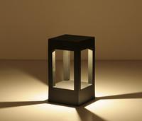 ray-lampe großhandel-4 ray Art und Weise modernes LED-Außen Park Gartenlichtlampe Zaun Tor Licht Outdoor-LED Flur Gehweg Passage Rasen Lampe Licht
