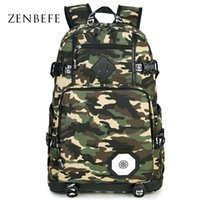 колледж рюкзаков оптовых-Wholesale- ZENBEFE  Design Backpacks Camouflage School Bag For Teenager Bag Travel Bag For College Unisex Backpack Rucksack Daypack