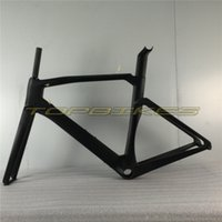 HQR16 Road Bike Frame, Super Light Carbon Fiber Frame + Fork + Headset + Poste do assento + Clamp + BB Tamanho do adaptador 48/50/52 / 54cm