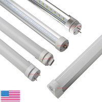 Wholesale Rotating Lamp White Light - 8FT T8 LED Tubes Light bulbs 45W FA8 R17D G13 Rotating Single pin 8 Feet Integrated LED bulbs tubes T8 Fluorescent Lamps AC85-265V