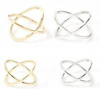 Wholesale tiara rings wholesale - Fashion Band Rings Rush Buy Women Ring Jewelry Finger Tiara Ring Jewellry Accessories X 3D Midi Finger Rings Golden Silver Plated Jewellry