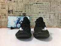 Wholesale Children Lace Socks - V2 Kids Shoes Black Boost 350 V2 Child Kanye West Sply 350 Season 3 Youth Shoes Original Box,receipt,Socks