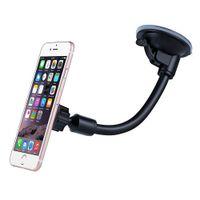 Wholesale Gooseneck Stand - Mobile phone holder Universal mamagnet Long arm gooseneck Car mount for smartphone iphone 6 car Phone stand GPS Car Dash Mount Holder