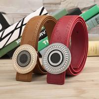 Wholesale High Quality Cummerbund - new arrival men big buckle designer leather belt business belt mens strap high quality and luxury cummerbund