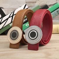 Wholesale Leather Cummerbund Belt - new arrival men big buckle designer leather belt business belt mens strap high quality and luxury cummerbund
