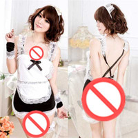 Wholesale Free Shipping Adult Costumes - Free shipping Cosplay Sexy lingerie combination suit uniforms Contains Adult sm stockings fishnet stockings female students loaded Sao maid