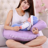New Design U Shape Baby Pillow Confortável Baby Support Pillow Head Protector Enfermagem Almofada Bright Color Cushion Sleeping Pad RC0076