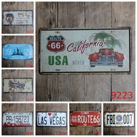 Wholesale license plate europe online - USA State California X15 CM Iron Paintings The City Of New York Metal Tin Sign License Plates Tin Poster European Style rjy