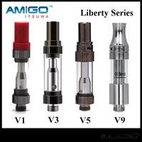 Wholesale New Batteries - New iTsuwa AMIGO Liberty Tank CE3 Cartridges V1 V3 V5 V7 V9 V12 Vaporizer For Preheat Battery 100% Original