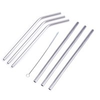 Wholesale Eco Reusable - Stainless Steel Straws Durable Reusable Metal 10.5inch 5sets 20zo 30oz straw Brush 304 Stainless steel Drinking Straws Free Shipping