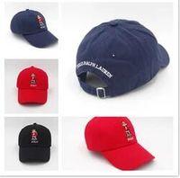 Wholesale Polo Ball Caps - Newest Arrival Cheap outdoor leisure cartoon bear the new polo black baseball cap hockey gorra retro fashion hat
