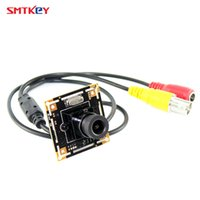 Wholesale Cable Camera Ccd Color - 7030 700tvl CMOS color hd board cctv camera cctv mini camera with 3.6mm lens with lens mount with cable security camera