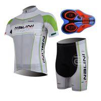 Wholesale Nalini Jersey Set - Man NALINI team cycling jersey (bib)shorts sets Ropa Ciclismo Summer Cycling clothing Quick-Dry Sportwear 9D GEL Pad Bicycle clothing A134