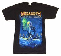 Wholesale rust top - Megadeth Rust In Peace th Anniv Tour Black T Shirt SMALL New Official NOS Sleeve Tee Shirt Homme T shirt Top Tees
