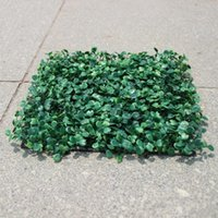 Wholesale Plastic Boxwood Topiary - Artificial Grass plastic boxwood mat topiary tree Milan Grass for garden,home ,wedding decoration Artificial Plants